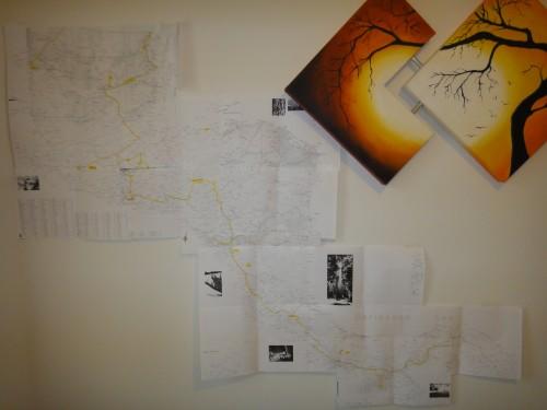 Mapas na parede