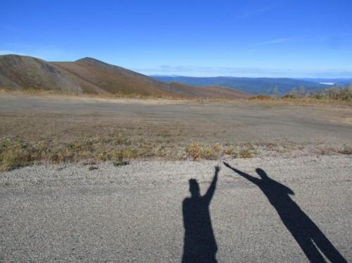 Entre Dawson City e Alaska da nossa viagem de 2012